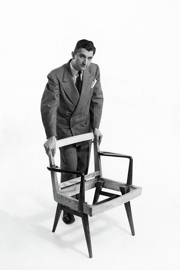 Portrait Of Furniture Designer Jens Risom Photograph by Herbert Matter