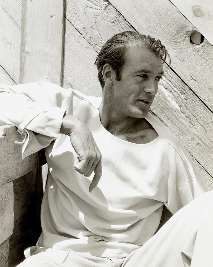 Portrait Of Gary Cooper Photograph by George Hoyningen-Huene
