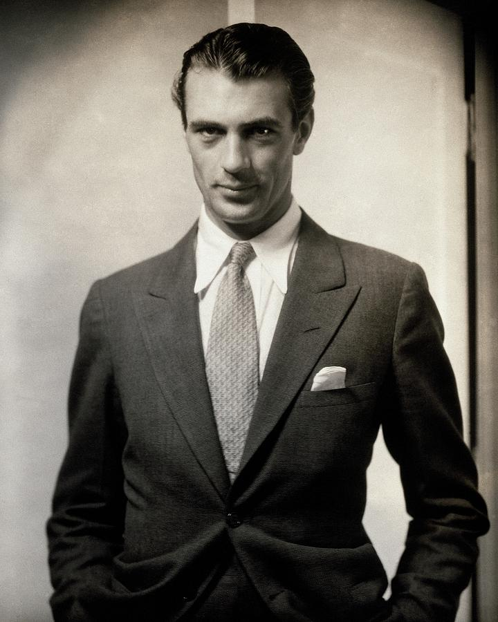 Portrait Of Gary Cooper Wearing A Suit Photograph by Edward Steichen