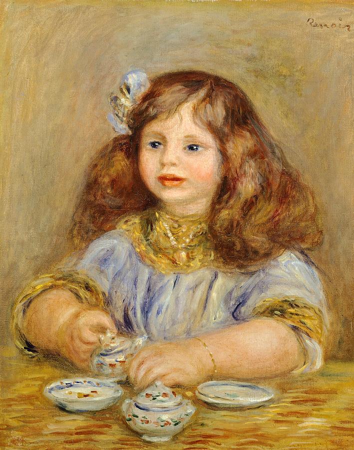 Europe Painting - Portrait of Genevieve Bernheim De Villiers by Pierre-Auguste Renoir
