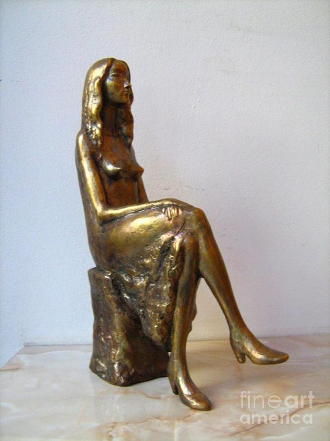 Girl Sculpture - Portrait Of Girl by Nikola Litchkov