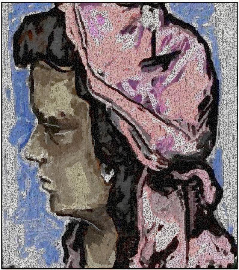 Post-impressionism Painting - Portrait Of Girl Pog1 by Pemaro