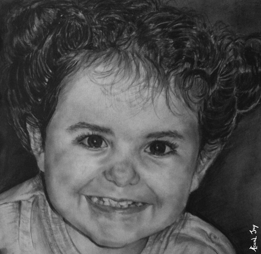 Portrait Drawing - Portrait Of Giulia by Arual Jay
