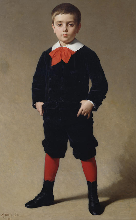 Boy Painting - Portrait Of Henri Achille by Achille Zo
