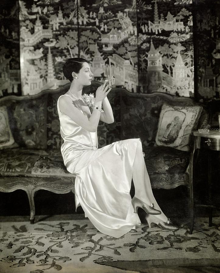 Portrait Of Ilka Chase Wearing Dress By Chanel Photograph by Charles Sheeler