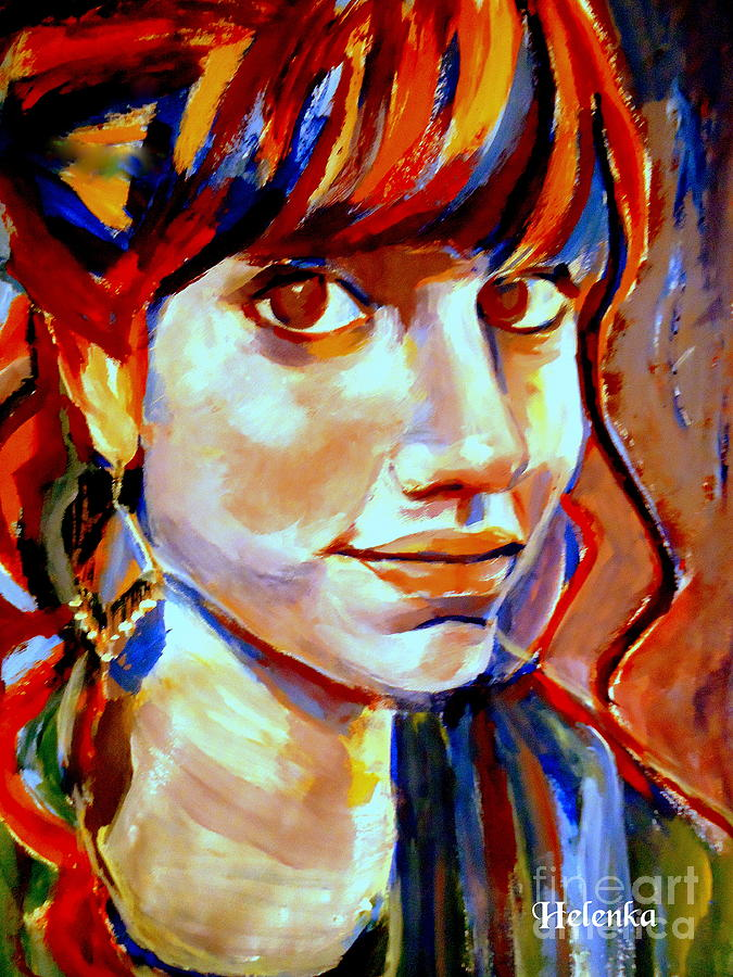 Nude Figures Painting - Portrait Of Ivana by Helena Wierzbicki