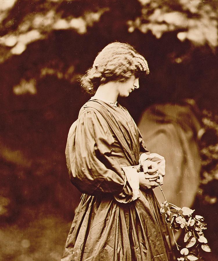 Photo Photograph - Portrait Of Jane Morris by John Parsons