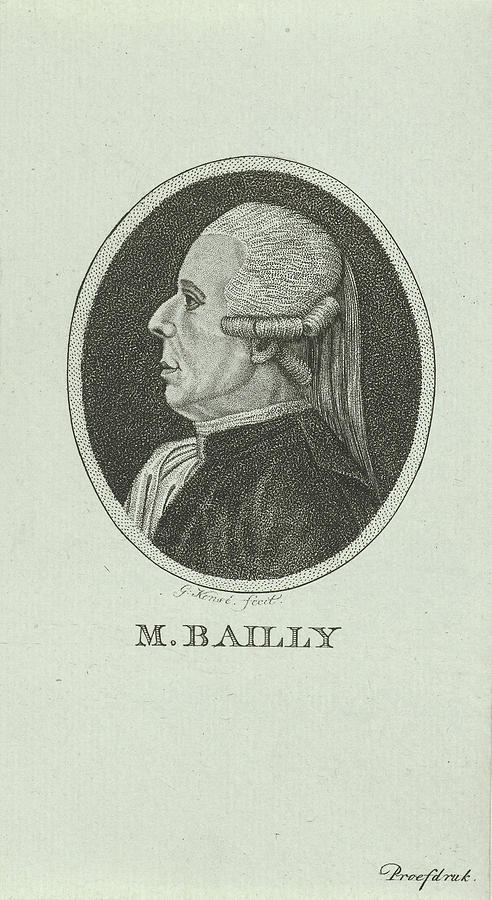 1792 Drawing - Portrait Of Jean Sylvain Bailly, 1736 - 1793, A French by Quint Lox