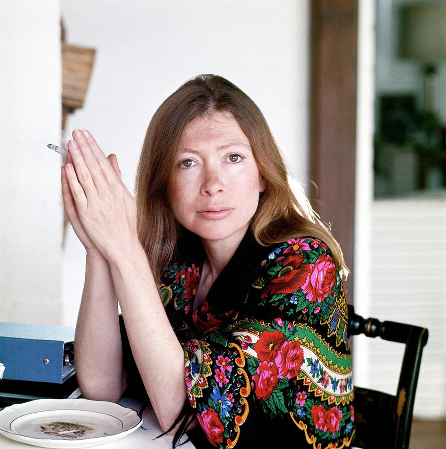 Portrait Of Joan Didion Photograph by Henry Clarke