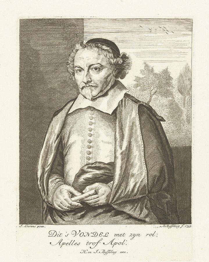 Portrait Of Joost Van Den Vondel Albertus Besseling