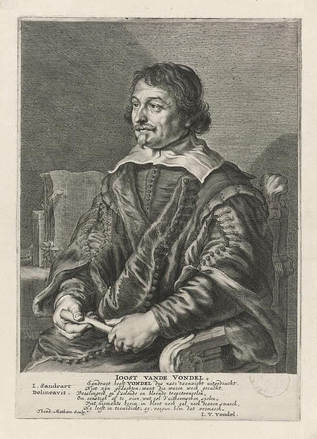 Portrait Of Joost Van Den Vondel Theodor Matham