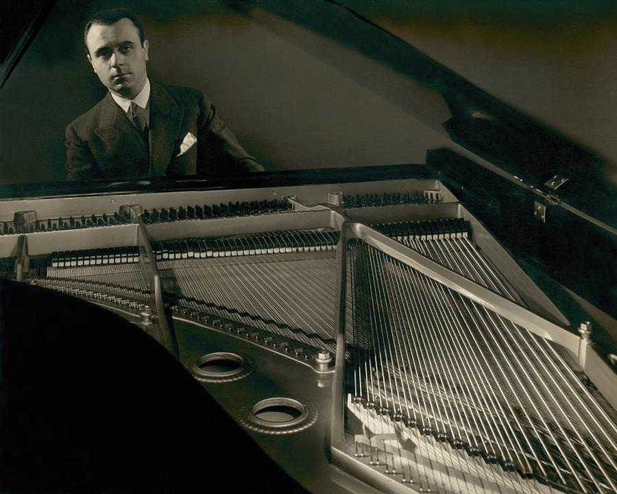 Portrait Of Jose Iturbi Sitting At His Piano Photograph by Edward Steichen