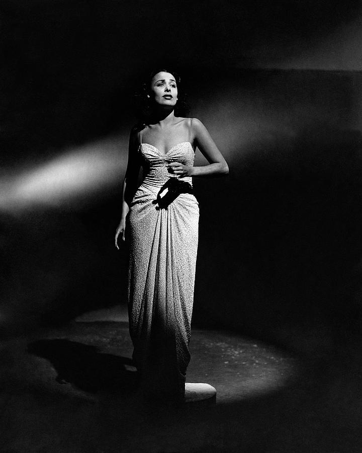 Portrait Of Lena Horne Photograph by John Rawlings