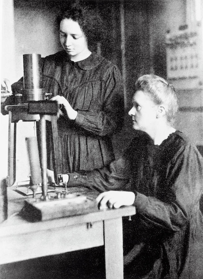 Curie Photograph - Portrait Of Marie & Irene Curie by Science Photo Library
