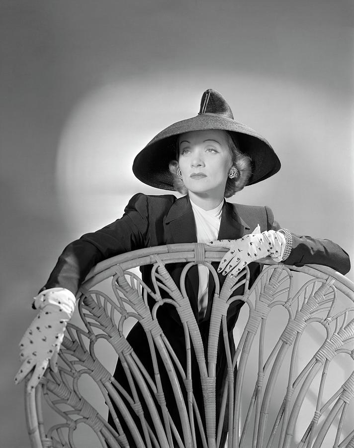Portrait Of Marlene Dietrich Photograph by Horst P. Horst