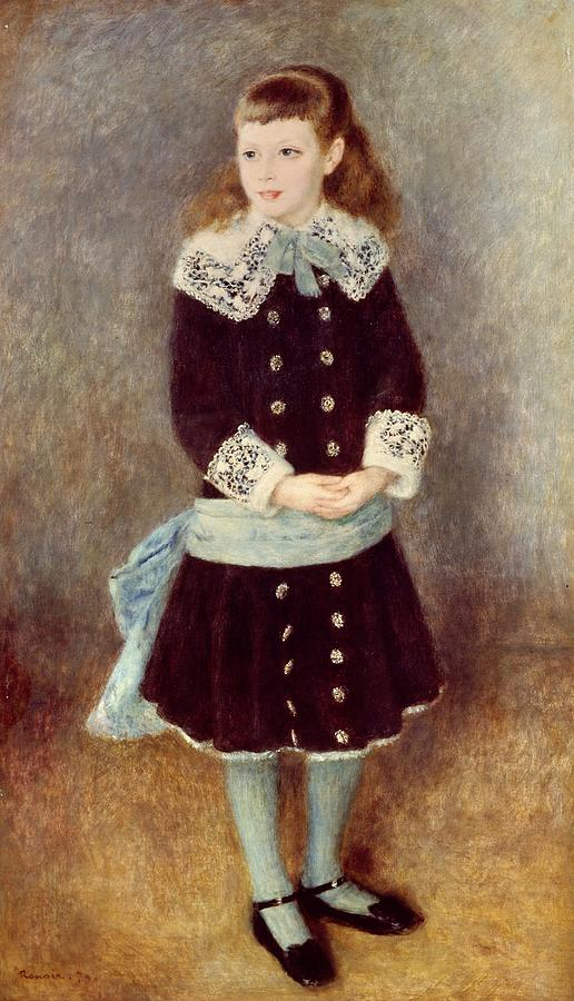 Painting Painting - Portrait Of Martha Berard by Pierre-Auguste Renoir