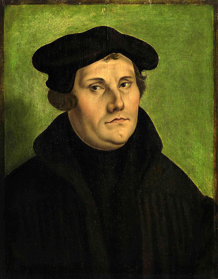 Portrait Of Martin Luther Painting By Georg Pencz