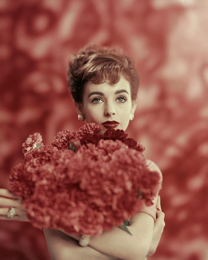 Portrait Of Millie Perkins Photograph by Karen Radkai