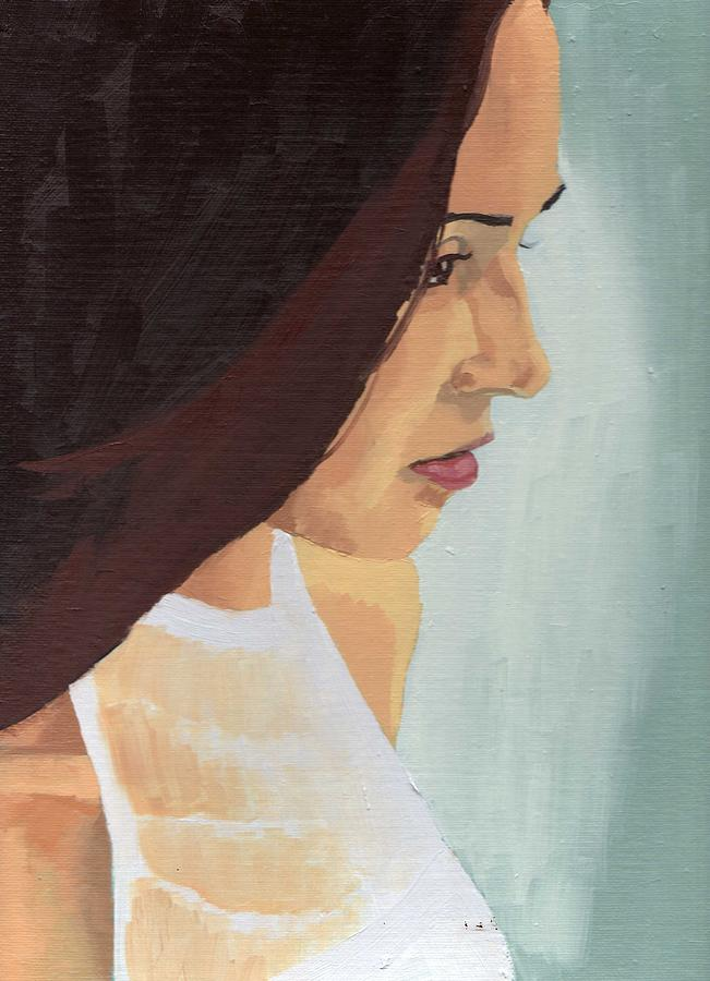 Painting Painting - Portrait Of Miranda by Stephen Panoushek