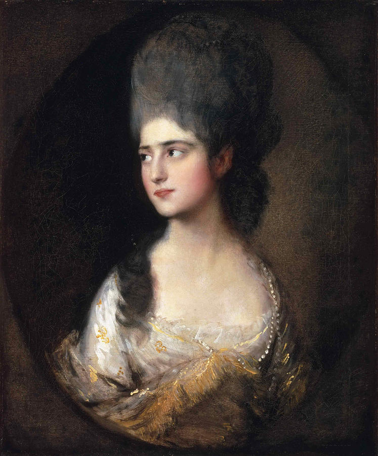Thomas Gainsborough Painting - Portrait Of Miss Elizabeth Linley  Later Mrs Richard Brinsley Sheridan by Thomas Gainsborough