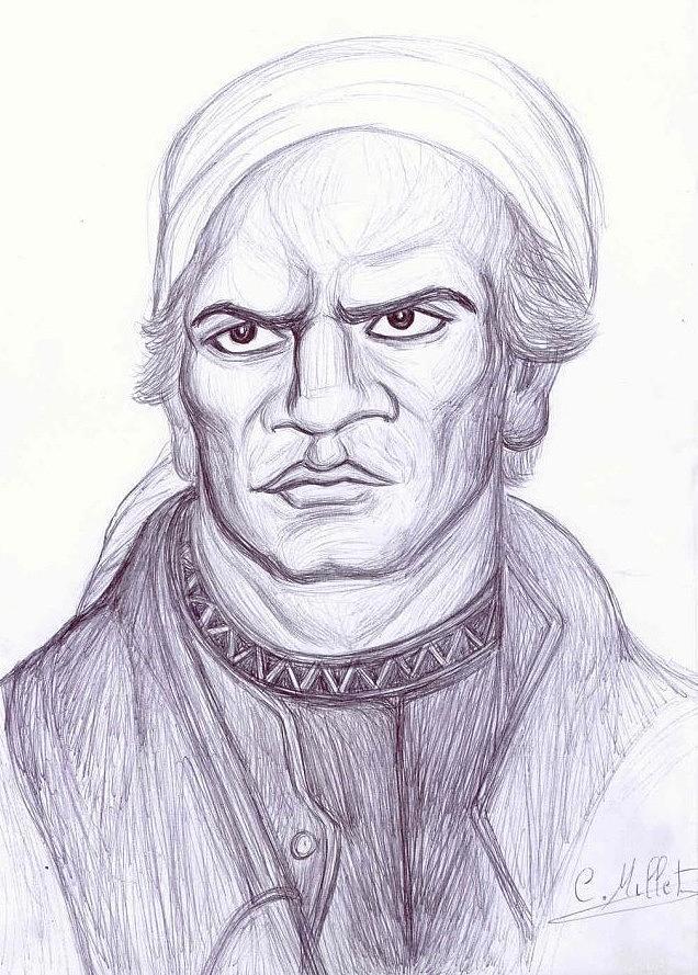 Morelos Drawing - Portrait Of Morelos by Cindy MILLET
