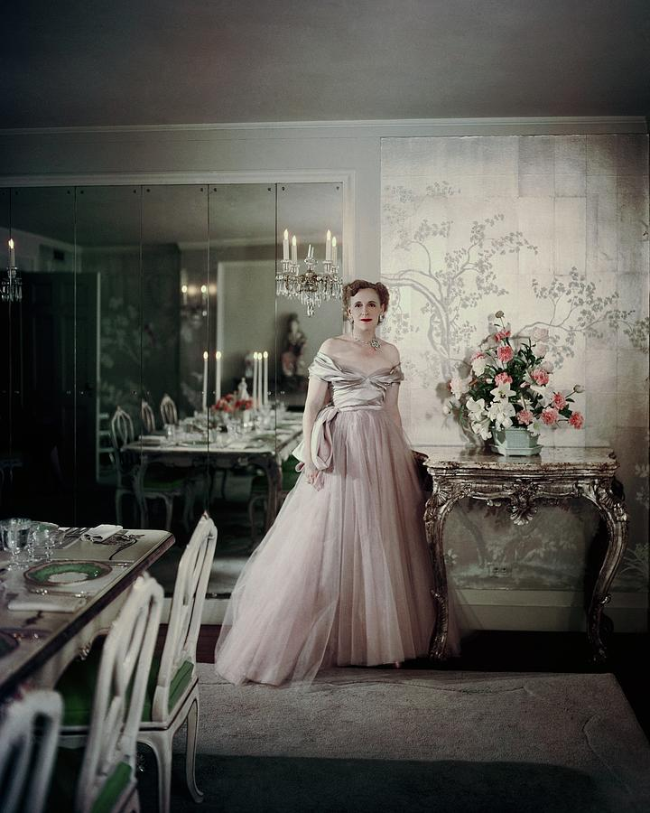 Home Photograph - Portrait Of Mrs. Adam Gimbel by John Rawlings