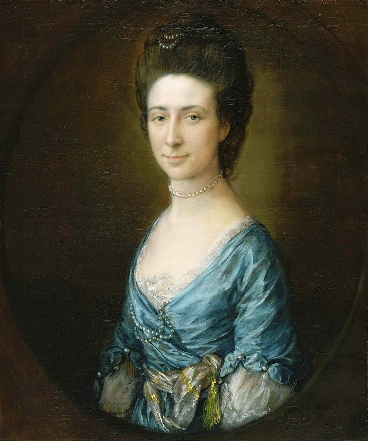Thomas Gainsborough Painting - Portrait Of Mrs Clement Tudway by Thomas Gainsborough
