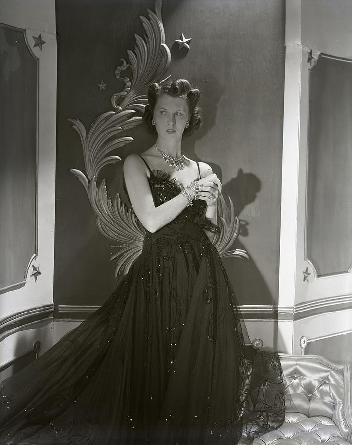 Portrait Of Mrs. John Jacob Astor In A Ball Gown Photograph by Horst P. Horst