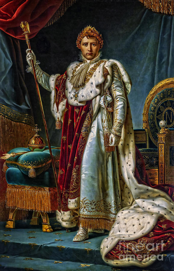 Portrait Of Napoleon In Coronation Robes Painting