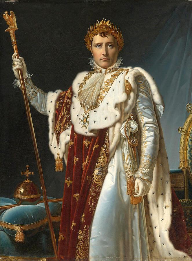 Gerard Napoleon Portrait In Francois By Coronation Robes Of zGqSVpMU