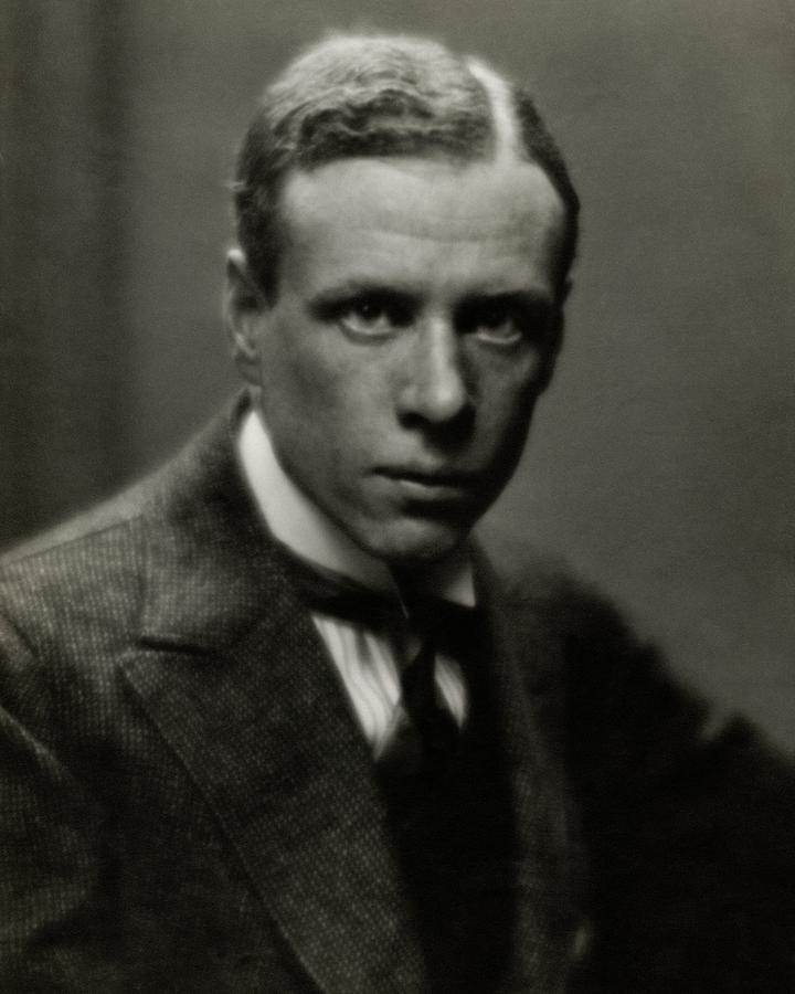 Portrait Of Novelist Sinclair Lewis Photograph by Arnold Genthe