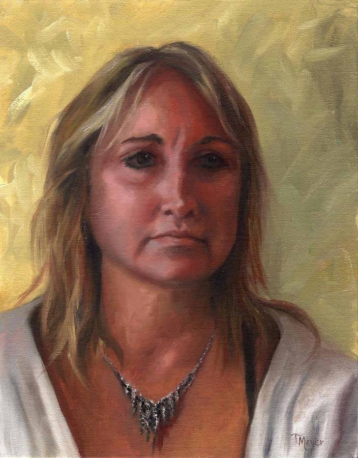 Portrait Of Paula Painting by Terri  Meyer