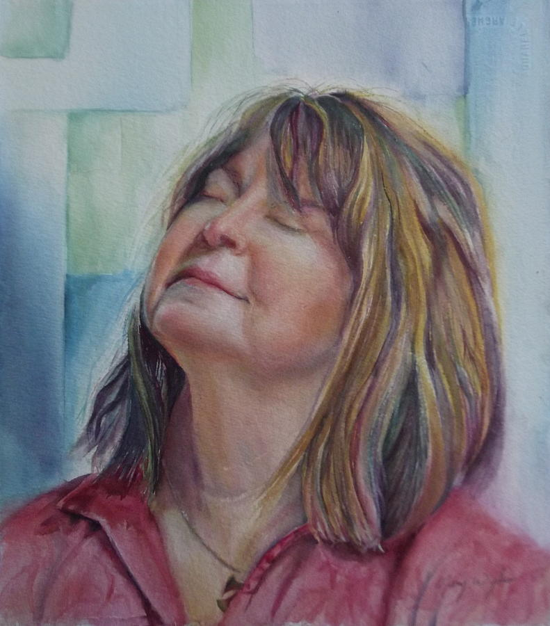 Commission Painting - Portrait Of Peg by Mary Beglau Wykes