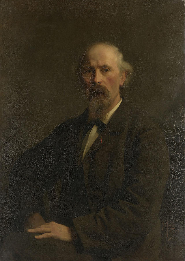 Portrait Painting - Portrait Of Pieter Stortenbeker, 1828-1898 by Litz Collection