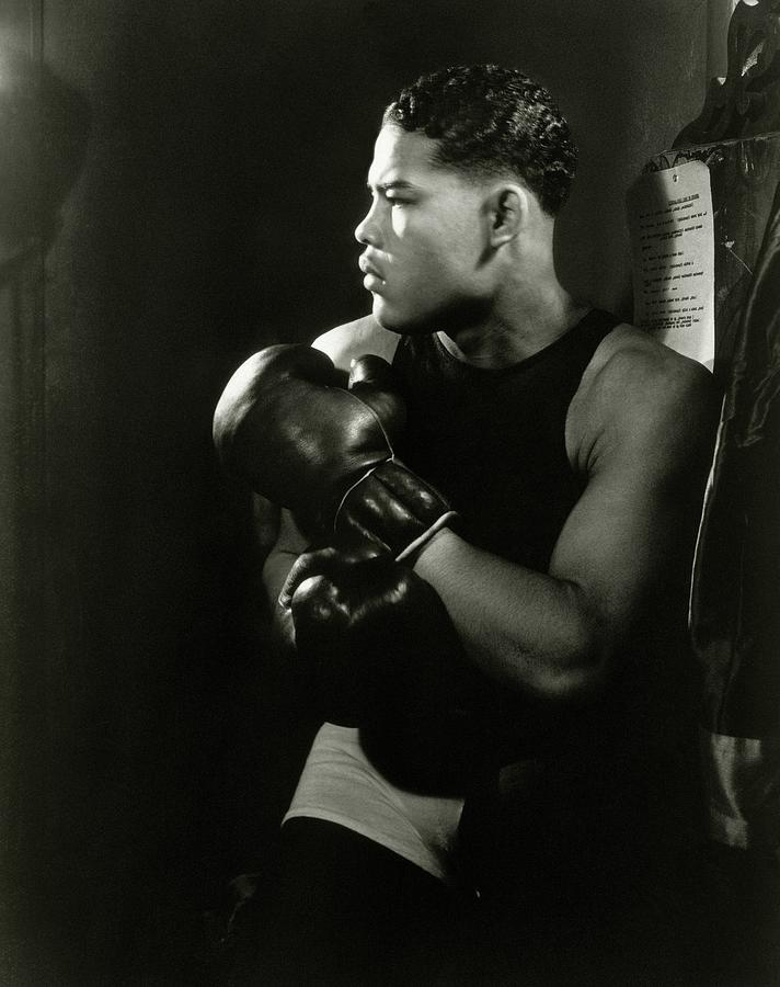 Portrait Of Professional Boxer Joe Louis Photograph by Lusha Nelson