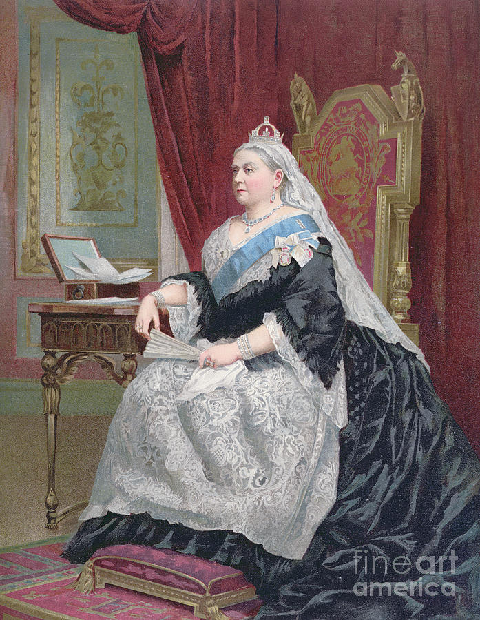 Female Painting - Portrait Of Queen Victoria by English School