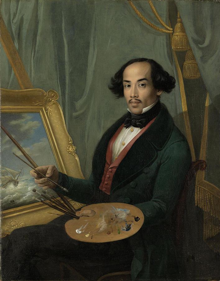 1840 Painting - Portrait Of Raden Syarif Bustaman Saleh, Attributed by Quint Lox