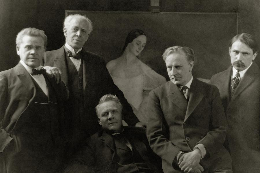 Portrait Of Russian Artists Photograph by Arnold Genthe
