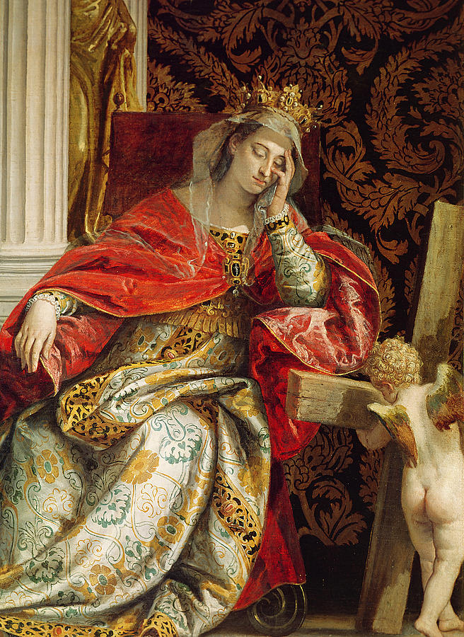 Portrait Of Saint Helena Painting By Veronese