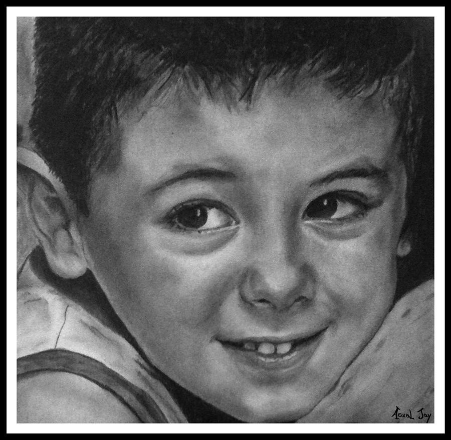 Portrait Drawing - Portrait Of Samuel by Arual Jay