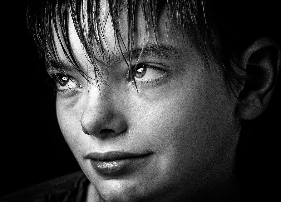 Portrait Of Smiling Boy Photograph by David Schlemer / Eyeem