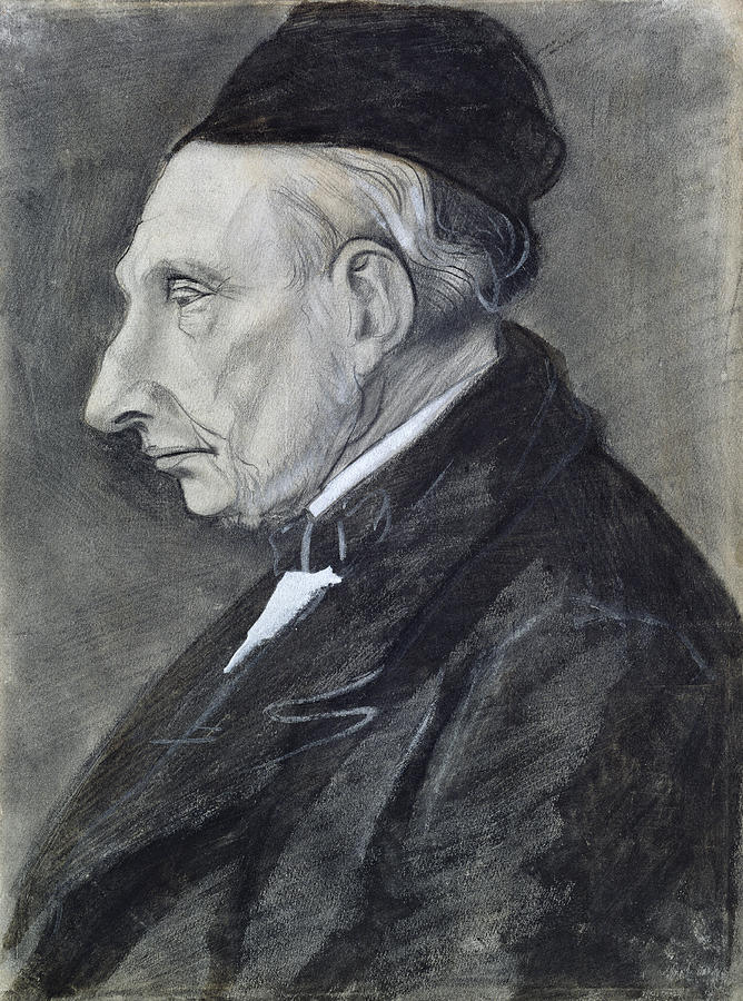 Drawing Drawing - Portrait Of The Artists Grandfather by Vincent Van Gogh