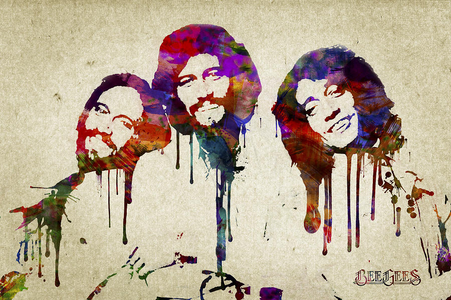 Portrait Of The Bee Gees Digital Art By Aged Pixel