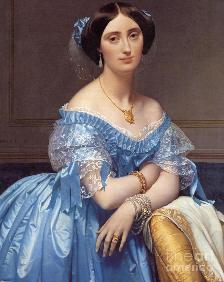 Princess Painting - Portrait Of The Princesse De Broglie by Jean Auguste Dominique Ingres