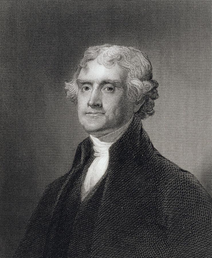 Thomas Jefferson Drawing - Portrait Of Thomas Jefferson by Henry Bryan Hall