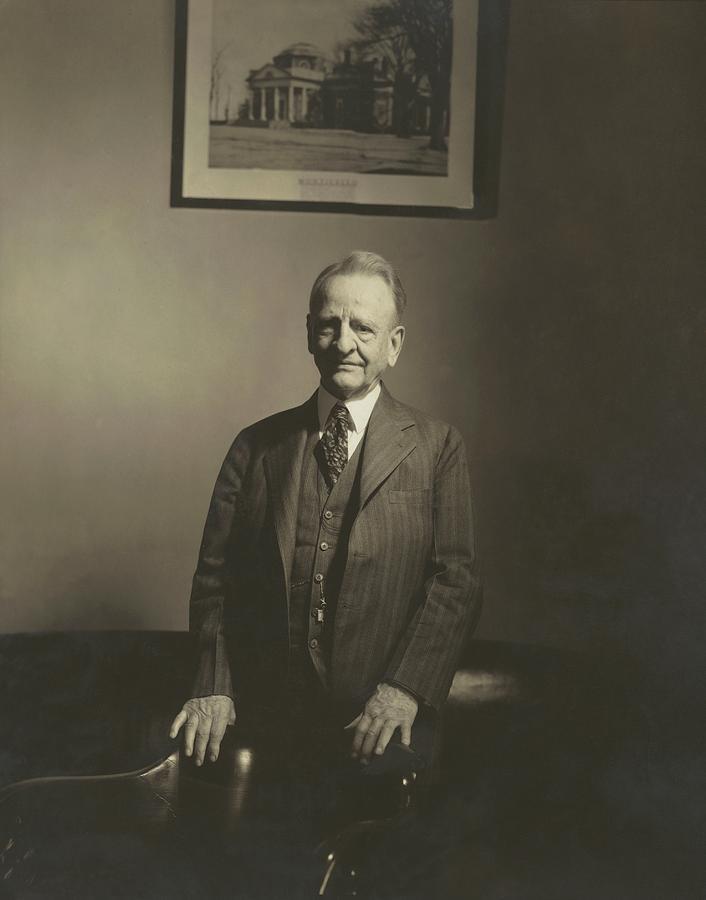 Furniture Photograph - Portrait Of U.s. Congressman by Edward Steichen