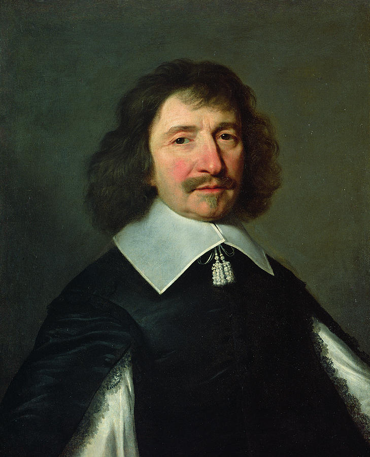 Moustache Photograph - Portrait Of Vincent Voiture 1597-1648 C.1643-44 Oil On Canvas by Philippe de Champaigne