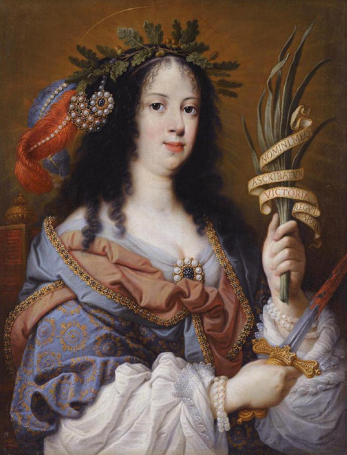Canvas Prints Painting - Portrait Of Vittoria Della Rovere As Saint Vittoria by Mario Balassi