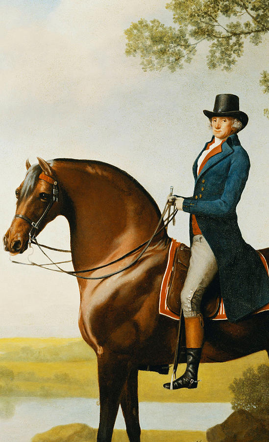 Portrait Of Warren Hastings Small Full Length On His Celebrated Arabian Painting by George Stubbs