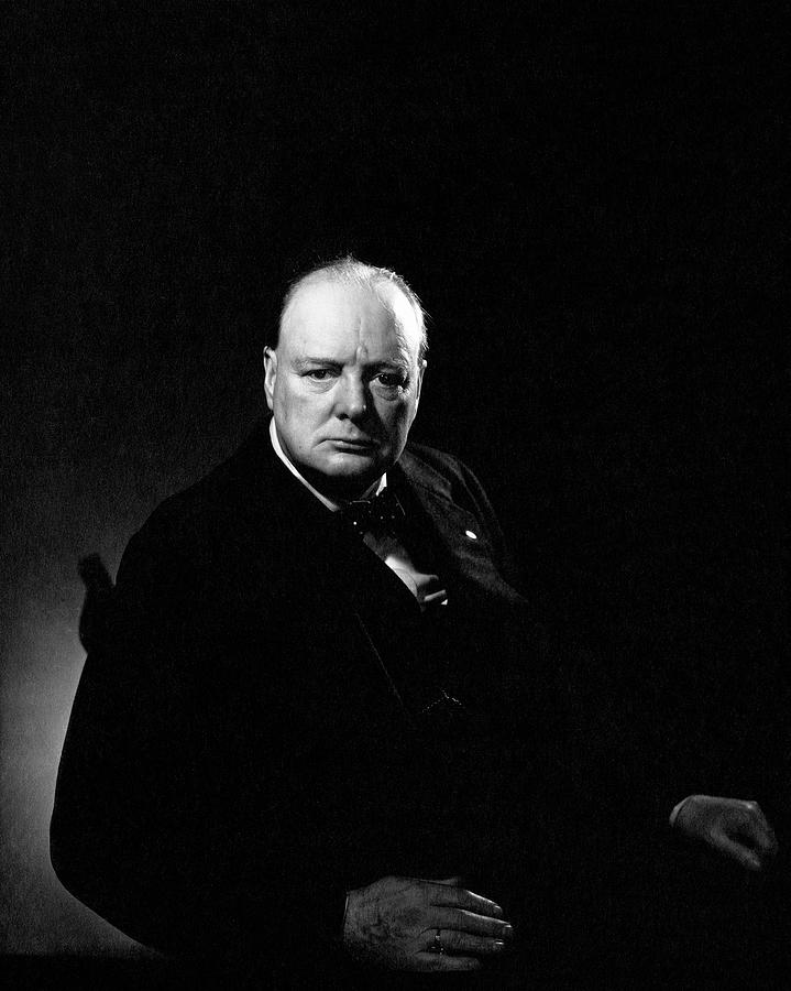 Portrait Of Winston Churchill Photograph by Edward Steichen